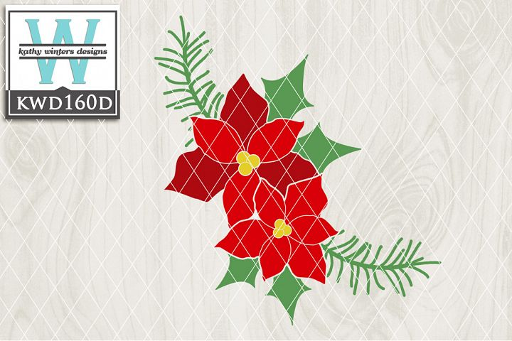 Christmas SVG - Poinsettias KWD160D