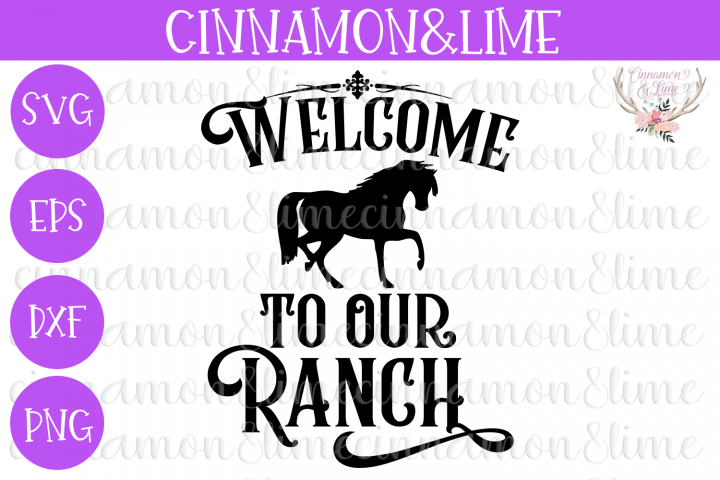 Welcome to Our Ranch Wood Sign SVG