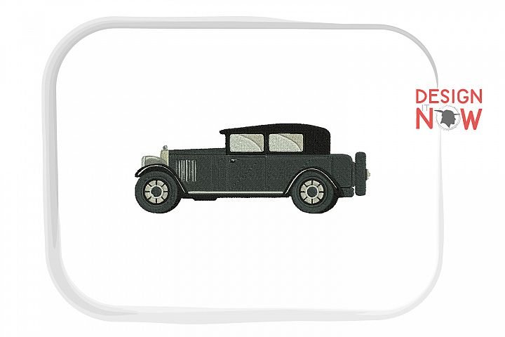 Vintage Car Embroidery Design, Classic Car Embroidery