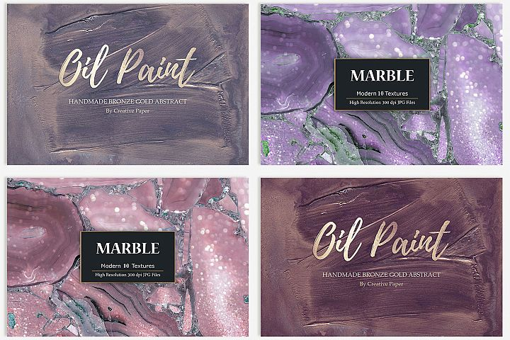 Oil Paint and Marble Textures BUNDLE