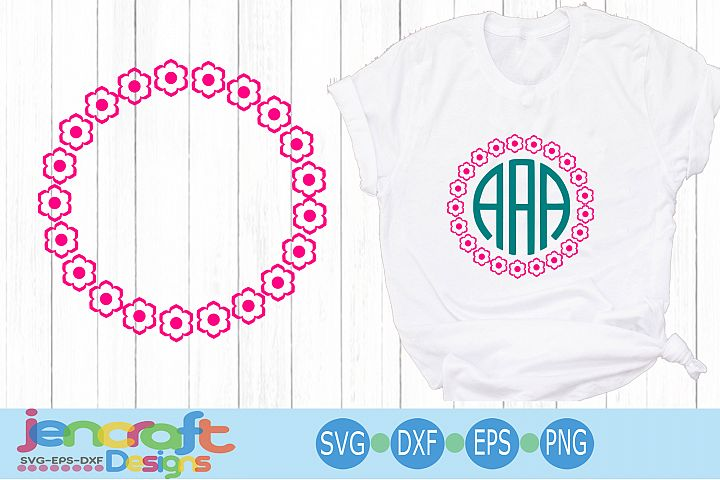 Flower monogram Frame SVG, Roses Monogram Frame SVG