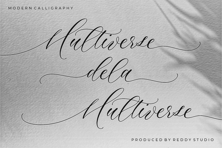 Multiverse Calligraphy Font