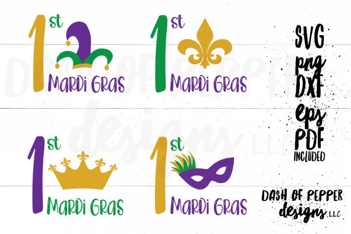 First Mardi Gras Bundle SVG - A Mardi Gras SVG