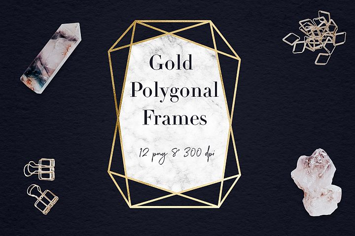 Marble And Gold Frames Clipart
