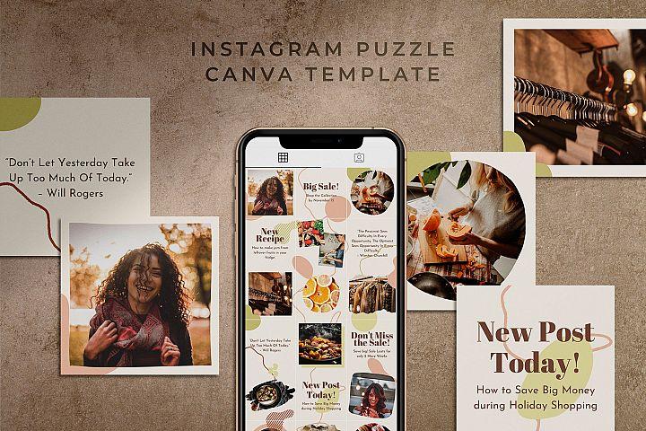 Instagram Puzzle Canva Template | Harmony
