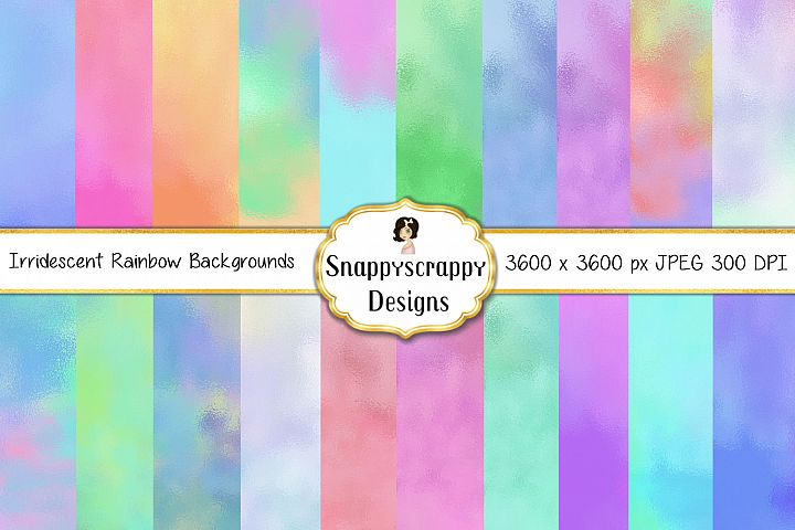 Iridescent Rainbow background Papers