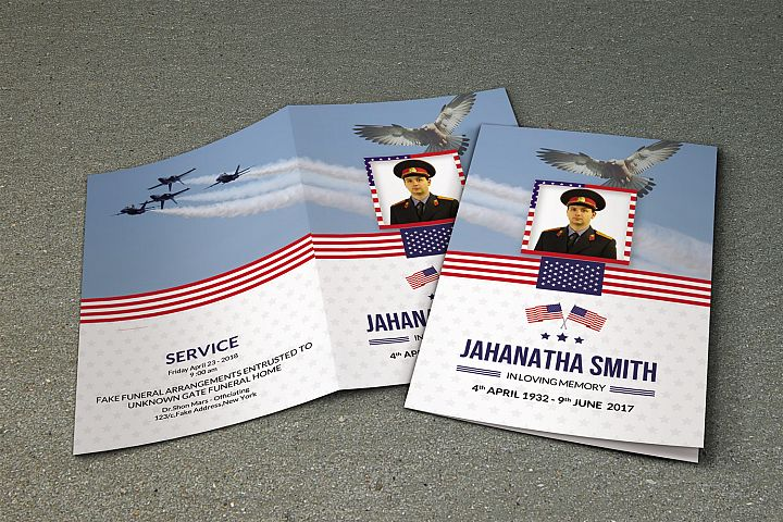 Funeral Program Template For Military Army