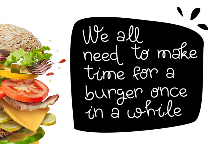 Yummy Burger- A handmade delicious font example 4