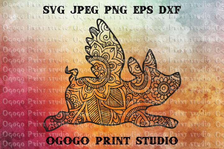 Pig svg, Flying Pig svg, Hippie SVG, Zentangle SVG