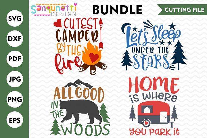 Camping Bundle, SVG Bundle, wilderness, DXF, cutting file