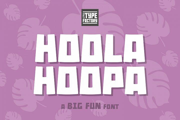 Hoola Hoopa Font PLUS BONUS Ligature Set