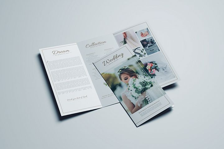 Wedding Business Trifold Brochure Design Template