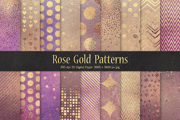 Rose Gold Pattern & Textures