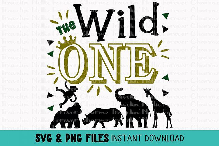 Wild One First Birthday SVG One Year Old Zoo Animals