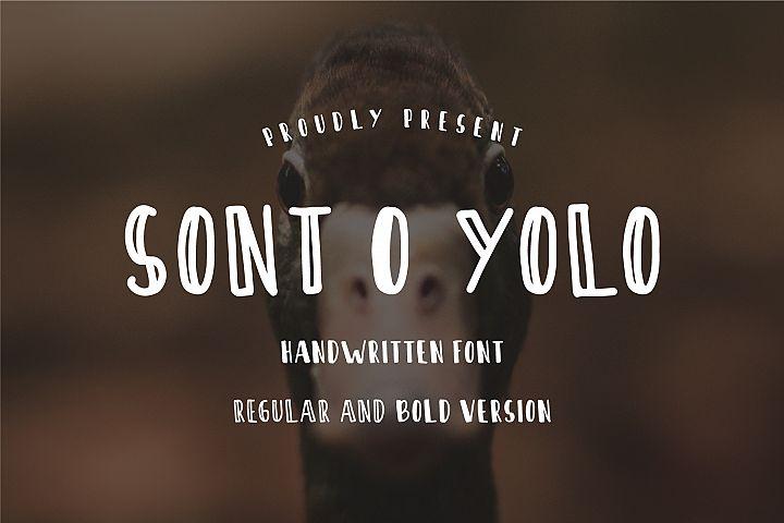 Sont O Yolo - Handwritten Font