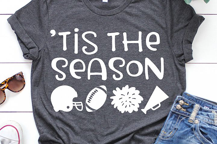 Tis the Season Football SVG, DXF, PNG, EPS
