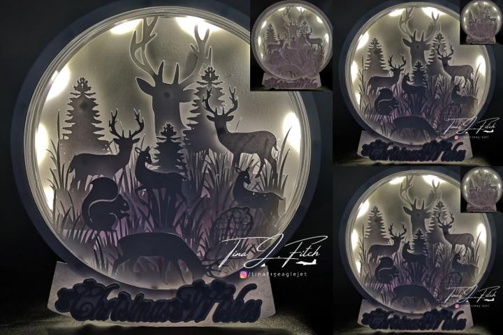Deer Globe Luminaire TF0283, SVG