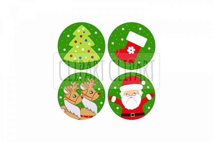 Santa Claus and deer. Xmas clipart png