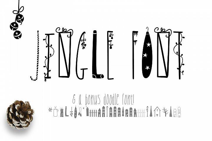 JINGLE FONT - a Christmas Typeface with Bonus DOODLES