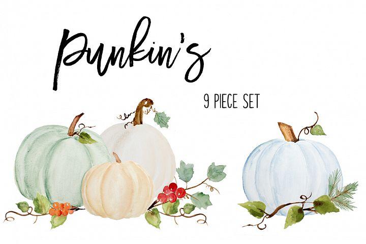 Fall Pumpkin Clip Art - soft, subtle colors Sublimation