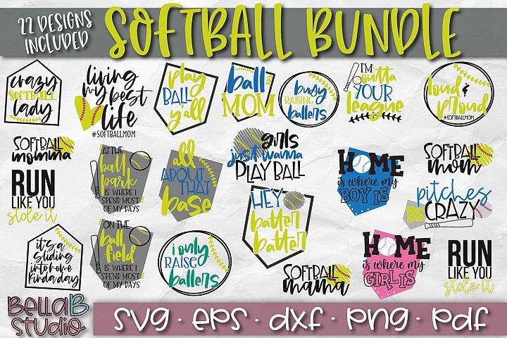 Softball SVG Bundle, Softball Mom Bundle SVG-Raising Ballers