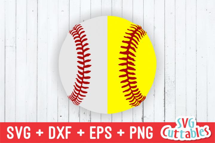 Split Baseball   Softball   SVG Cut File
