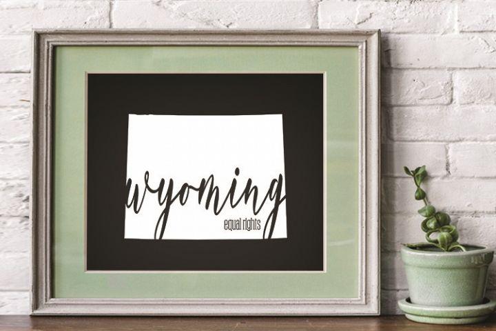 Wyoming, Wyoming state, Wyoming motto, PRINT, CUT, DESIGN