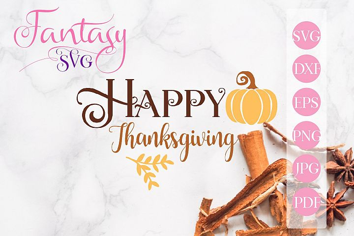 Happy Thanksgiving svg cut file for silhouette and cricu
