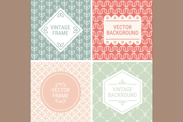 Mono Line Frames and Patterns - Set 2