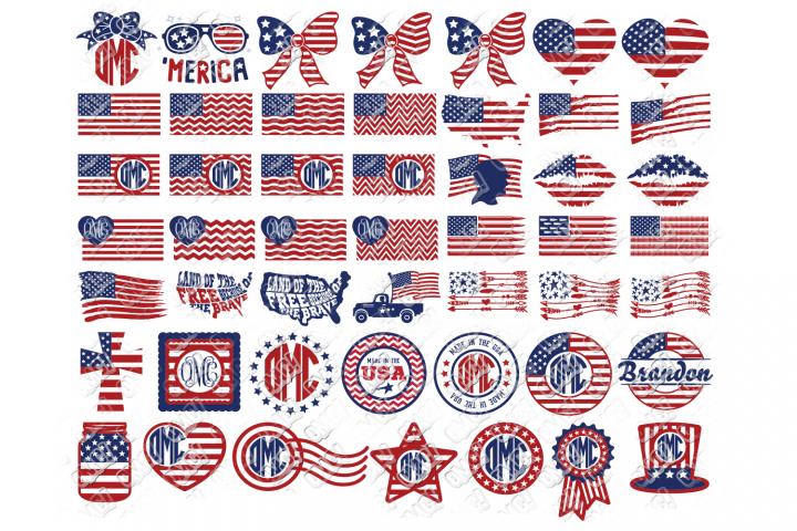 American Flag SVG Bundle