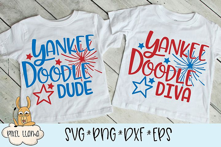 Yankee Doodle Diva & Dude Matching SVGs