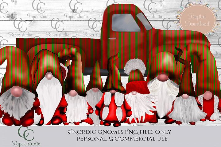 Scandinavian Tomte Gnomes - Christmas stripe special