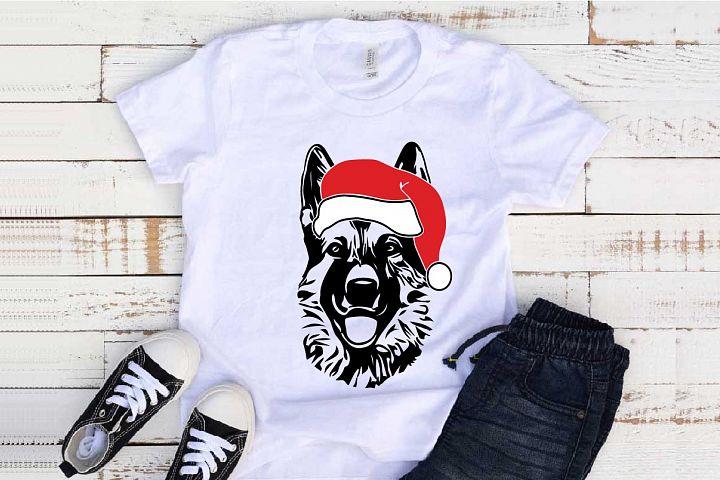 German shepherd Whit Christmas Santa elf Breed K-9 1118s