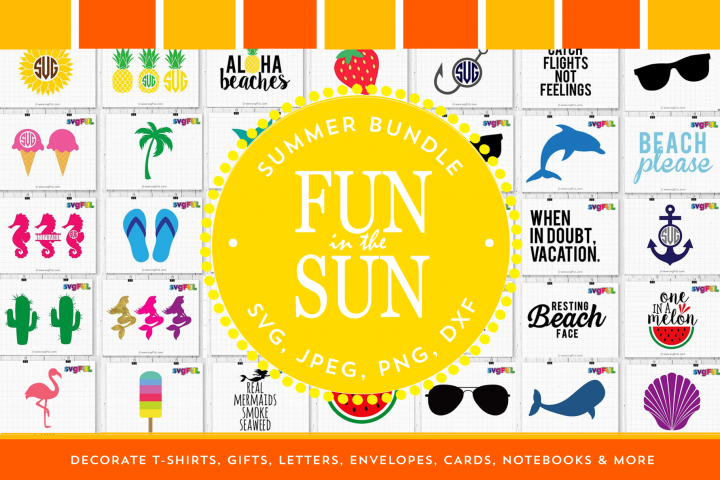 Summer Svg Clipart Printables Bundle