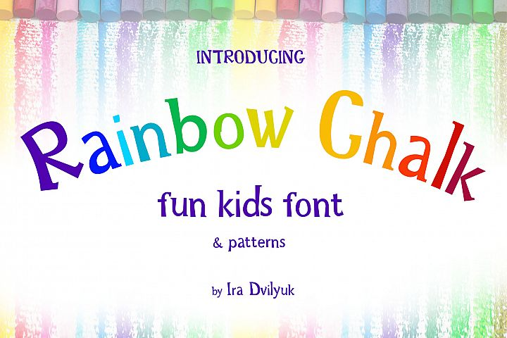 Rainbow Chalk fun kids font
