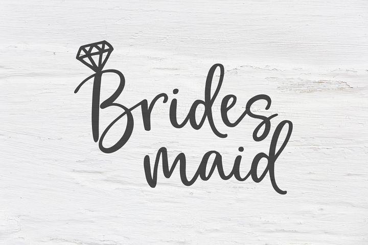 Bridesmaid wedding SVG, EPS, PNG, DXF