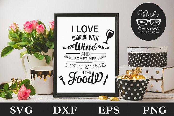 I love cooking SVG Cut File