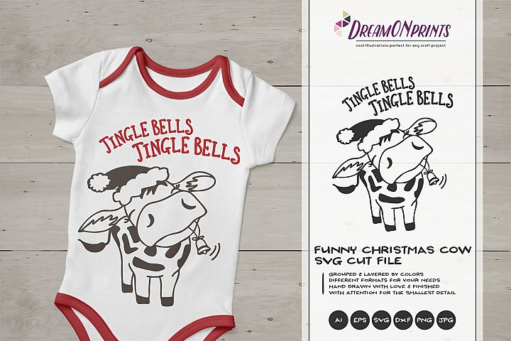 Funny Cow SVG | Fun Christmas Design
