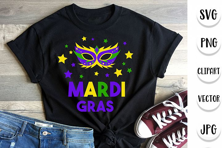Mardi Gras SVG - Cut files, Clipart