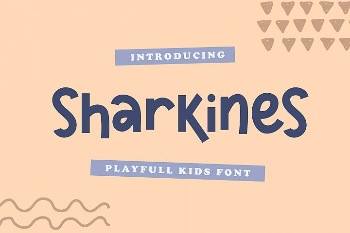 Sharkines | Playful Kids Font