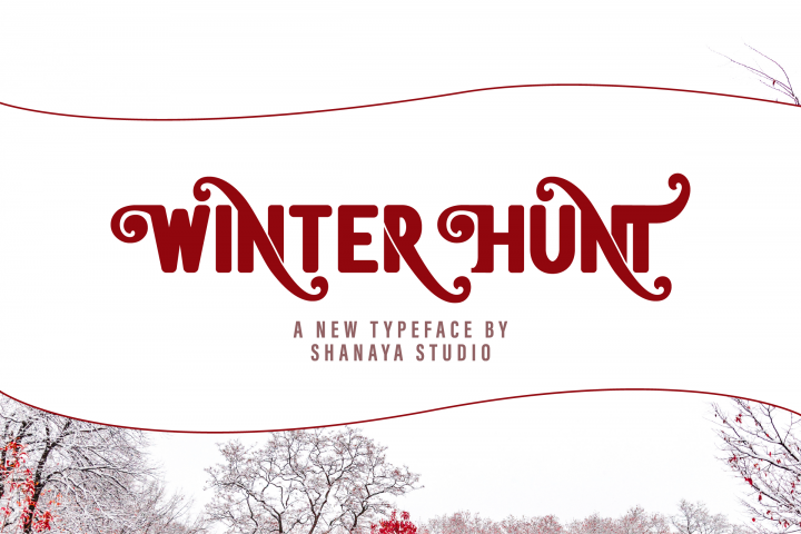Winter Hunt Beauty Typeface