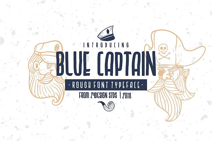 BLU CAPTAIN ROUGH FONT