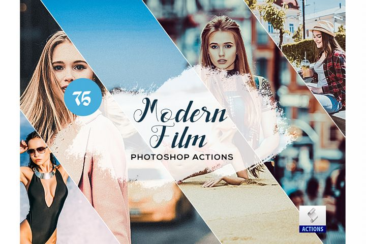 75 Modern Film Photoshop Actions