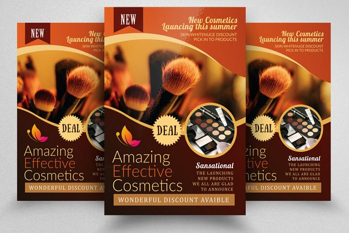 Cosmetic Product Promotion Flyer Template