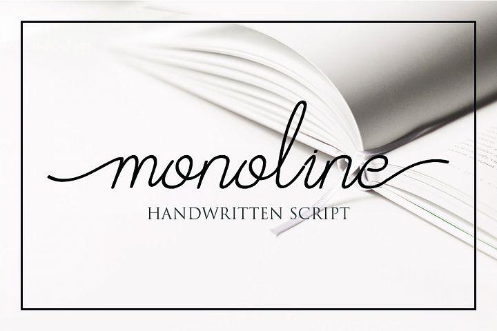 Afrida monoline script font