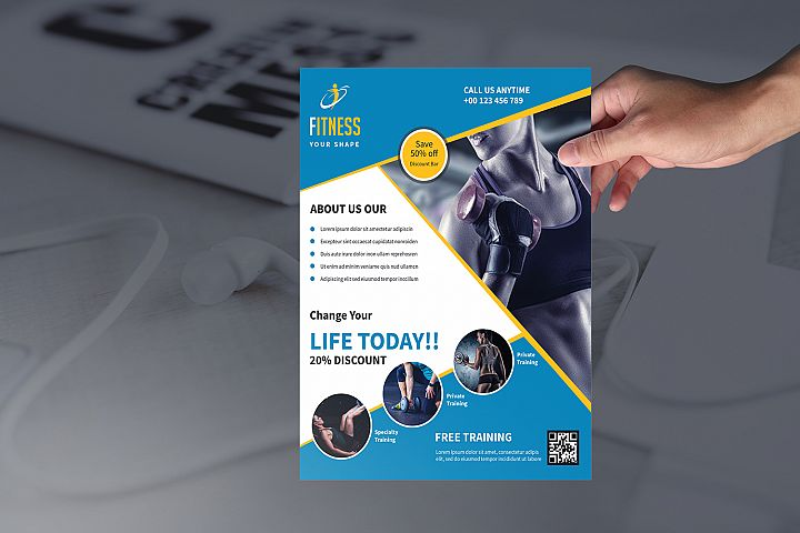 Fitness Flyer | Gym Flyer Template