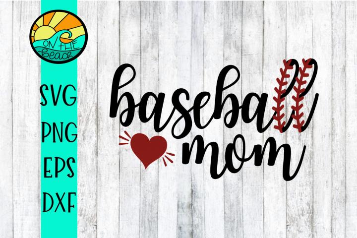 Baseball Mom - SVG - DXF - EPS - PNG