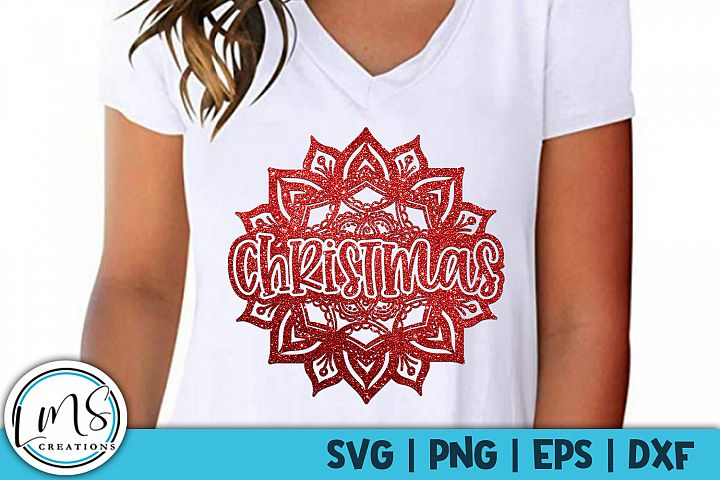 Mandala - Christmas SVG, PNG, EPS, DXF