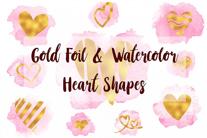 Gold Hearts Clip Art, Heart Overlays