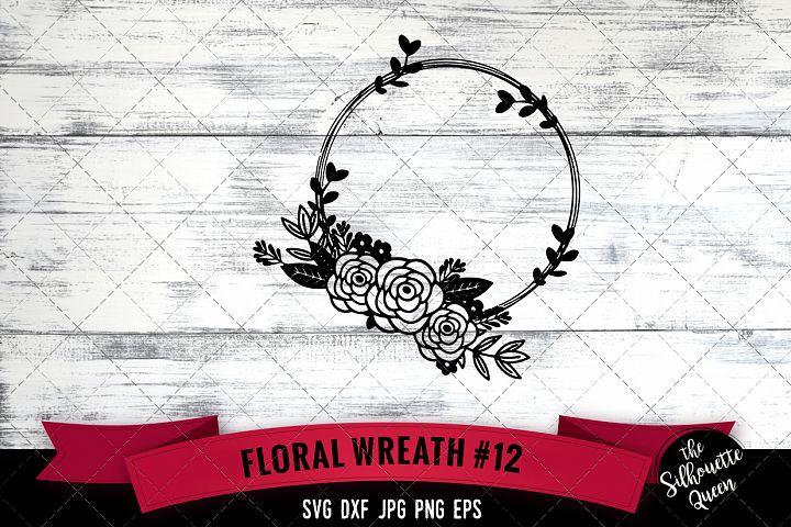 Floral Wreath 12 Svg Cut File